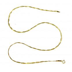 Zlatý řetízek - 45 cm