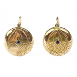 Gold earrings -...