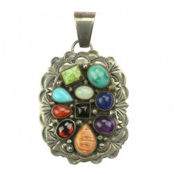 Silver pendant with...