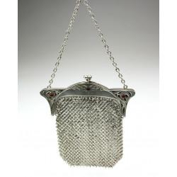 Secesní stříbrná kabelka s...