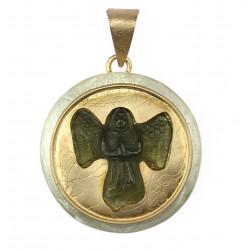 Pendant with moldavite - angel