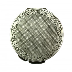 Art-deco silver powder box