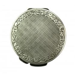 Art-deco stříbrná pudřenka