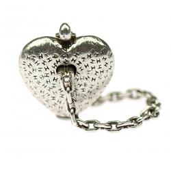 Stříbrná klíčenka Hermés