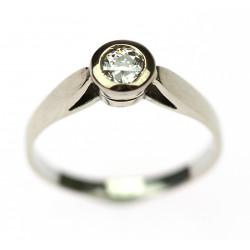 Art-deco diamantový prsten