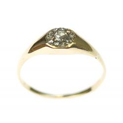 Zlatý prsten s diamantovými...