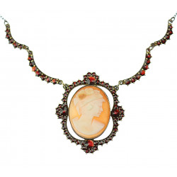 Necklace with cameo and...