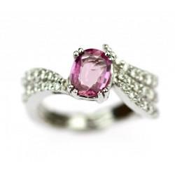 Zlatý prsten s růžovým...