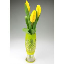 Yellow vase - pineapple