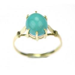 Zlatý prsten s tyrkysem