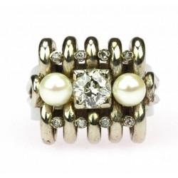 Zlatý prsten se starobrusným diamantem 0,84 ct