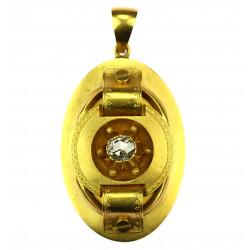 Zlatý škapulíř s diamantovou routou