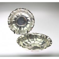 Párové stříbrné misky
