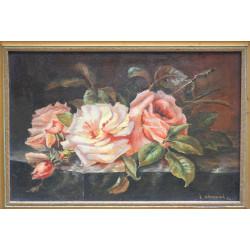 Květinové zátiší - E. Šátková