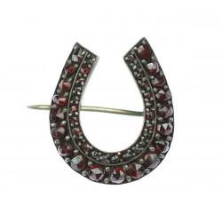 Art Nouveau brooch - horseshoe
