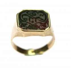 Zlatý prsten s heliotropem