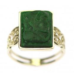 Pánský prsten s malachitem