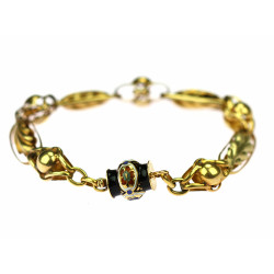 Gold bracelet with enamel