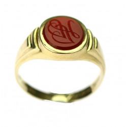 Zlatý prsten s karneolem