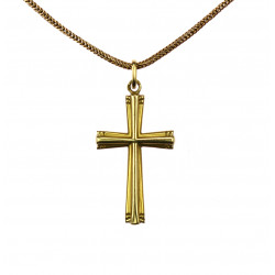 Golden cross with chain