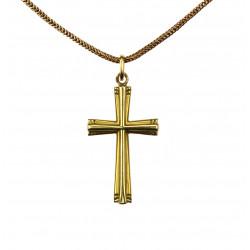 Zlatý křížek s řetízkem