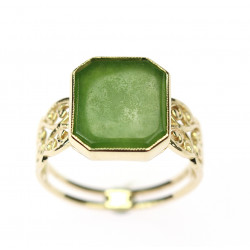 Ring with jade