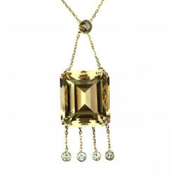 Zlatý náhrdelník s citrínem