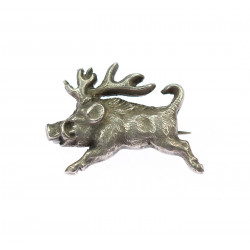 Silver brooch - wild boar
