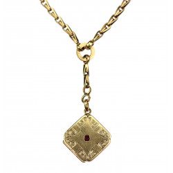 Golden chain with medallion
