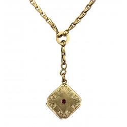 Zlatý šatlén s medailonkem