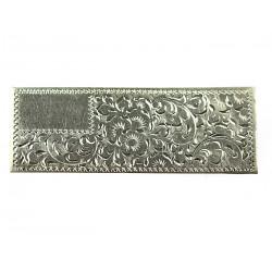 Art-deco silver brooch