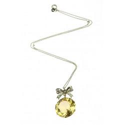 Náhrdelník s citrínem a diamanty