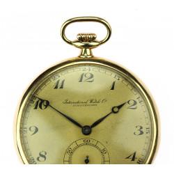 Zlaté kapesní hodinky IWC