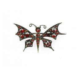 Butterfly brooch with czech...