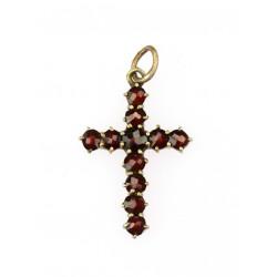 Cross with czech garnets