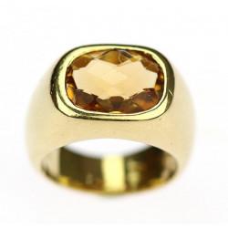 Zlatý prsten s citrínem