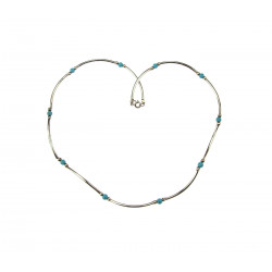 Stříbrný náhrdelník s tyrkysy
