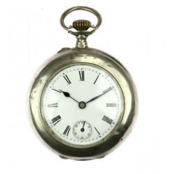 Stříbrné kapesní hodinky -...