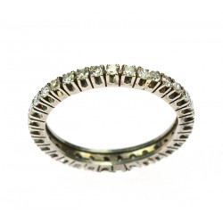 Gold ring with diamonds -...