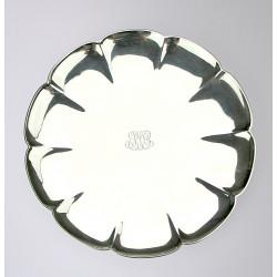 Art-deco stříbrný talíř -...