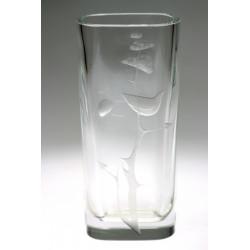 Váza s ptáčkem - Moser, L....