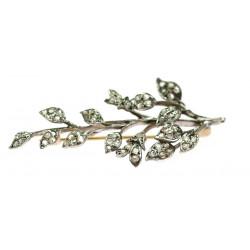 Diamantová brož - větvička