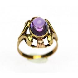 Zlatý prsten s ametystem