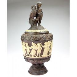 Large ceramic jar - Cupid...