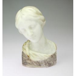 Alabaster bust of a girl