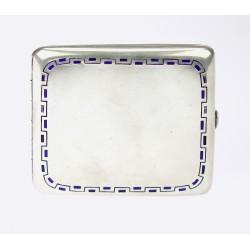 Silver Art Deco tobacco box