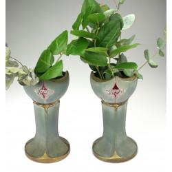 Párové secesní vázy
