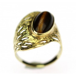 Gold ring decorated with...