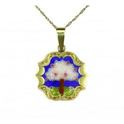 Zlatý náhrdelník s millefiori