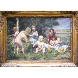 Žánrová malba dětí - F. B....